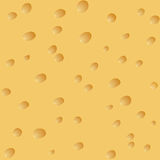 Seamless background of cheese with holes. Royalty Free Stock Image
