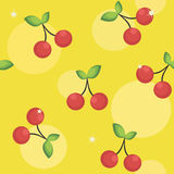 Seamless background with cherries Royalty Free Stock Photos