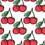 Seamless background with cherry. Stock Images