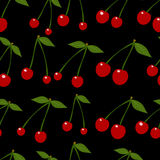 Seamless background with cherry. Vector Royalty Free Stock Photo