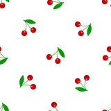 Seamless background with cherry. Vector illustration. Stock Photos