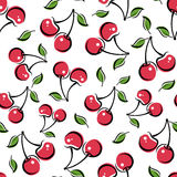 Seamless background with cherry. Vector illustration. Royalty Free Stock Photography