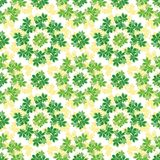 Seamless background, chestnut leaves. Seamless background, pattern of chestnut green and yellow leaves royalty free illustration