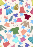 Seamless background with children clothes Stock Photography