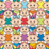 Seamless Background, Children Stock Photos