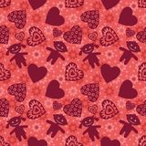 Seamless background, Children and hearts Stock Image