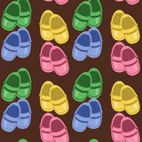Seamless background with children shoes Royalty Free Stock Photography
