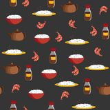 Seamless background on chinese cuisine theme Royalty Free Stock Images