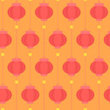 Seamless background with Chinese lanterns. Seamless vector background with traditional Chinese lanterns Stock Photography