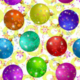 Seamless Background with Christmas Balls Stock Photo