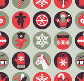 Seamless background with Christmas gifts. Seamless background with silhouette of Christmas gifts stock illustration
