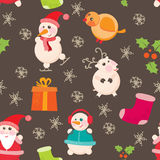 Seamless background, Christmas and New Years Stock Photo