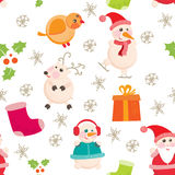 Seamless background, Christmas and New Years Stock Image