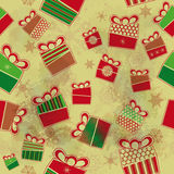 Seamless background with Christmas presents Stock Photos