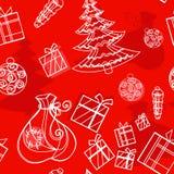 Seamless background christmas set Royalty Free Stock Photos