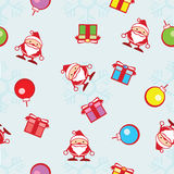 Seamless background of Christmas and snowflake Royalty Free Stock Images