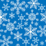 Seamless background with Christmas snowflakes Royalty Free Stock Photos