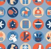 Seamless background with christmas symbols. Seamless background with silhouette of Christmas gifts royalty free illustration