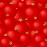 Seamless background of Christmas tree balls Stock Photo