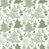 Seamless background with christmas trees Royalty Free Stock Photography
