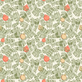 Seamless background with christmas trees. For textiles and packaging designs Stock Image