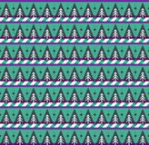 Seamless background  with christmas trees and candy stripes prin Royalty Free Stock Images