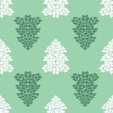 Seamless background of Christmas trees. happy New year 2016. Vector illustration Royalty Free Stock Image