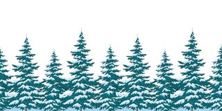 Seamless background, Christmas trees Royalty Free Stock Image