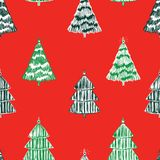 Seamless background from christmas trees. Vector pattern of decorative christmas trees vector illustration