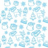 Seamless background with christmass items Stock Photography