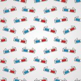 Seamless background for cinema. 3D glasses Royalty Free Stock Images