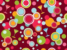 Seamless background with circles Stock Photography