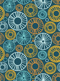 Seamless background with circles and radial elements Royalty Free Stock Photos