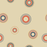 Seamless background from circles, vector illustration. Stock Image