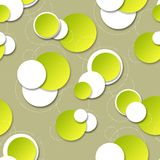 Seamless background with circular patterns. For design Royalty Free Stock Image