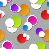 Seamless background with circular patterns. For design Stock Photo