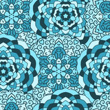 Seamless background of circular patterns mandalas. Seamless background of circular patterns, blue mandalas royalty free illustration