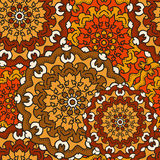 Seamless background of circular patterns mandalas. Seamless background of circular patterns colored mandalas royalty free illustration