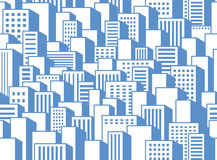 Seamless background of a city Royalty Free Stock Images