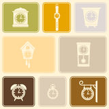 Seamless background with  clock Royalty Free Stock Photos