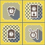 Seamless background with  clock Royalty Free Stock Images