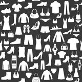 Seamless background with clothing. Stock Images