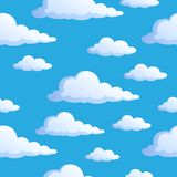 Seamless background with clouds 1 Royalty Free Stock Image
