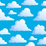 Seamless background with clouds 3 Stock Images