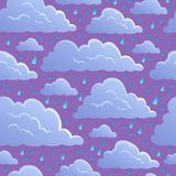 Seamless background with clouds 5 Royalty Free Stock Photo