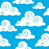 Seamless background with clouds 6 Stock Image