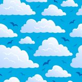Seamless background with clouds 7 Stock Image