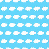 Cloud seamless background. Seamless background with clouds on blue background Royalty Free Stock Photos