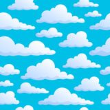 Seamless background clouds on sky Stock Images