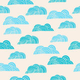 Seamless background with clouds. For textiles, interior design, for book design, website background Stock Photos